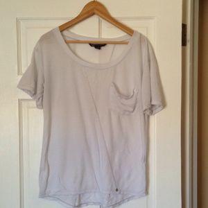 Armani Exchange Plain White T Shirt